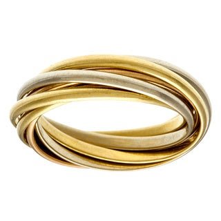 Cartier 18k Tri-color Gold 7-band Estate Ring