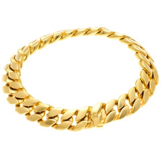 David Yurman 22k Yellow Gold Curb Link Estate Bracelet