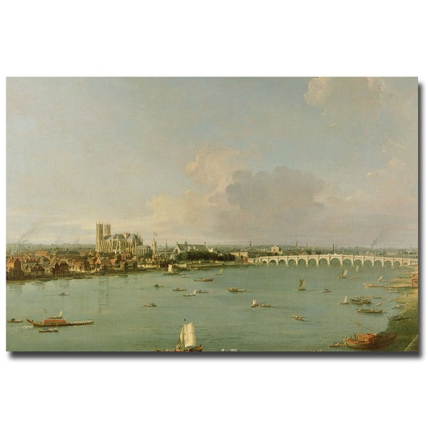 Canaletto 'View of the Thames from the South' Medium Canvas Art