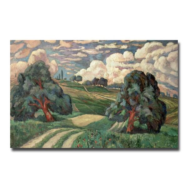 Carl Edvard Diriks 'Fauve Landscape 1910' Canvas Art