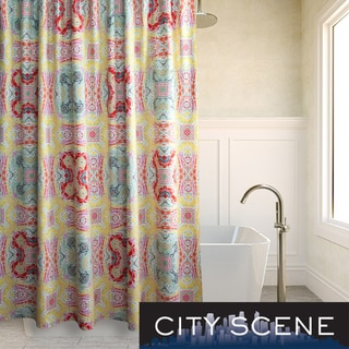City Scene Juniper Paisley Cotton Shower Curtain