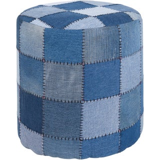 Mandara Handmade Cylindrical Denim Fabric Pouf