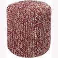 Mandara Handmade Red Cotton Pouf