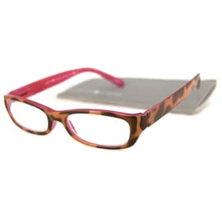 Gabriel + Simone Readers Women's 'Emilie' Animal PrintRectangular Reading Glasses