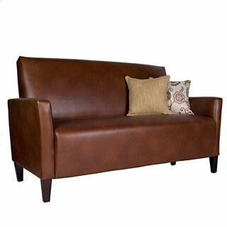 Portfolio Gia Brown Renu Leather Sofa