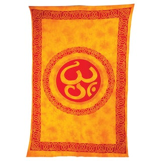 'Om' Zone Cotton Tapestry (India)