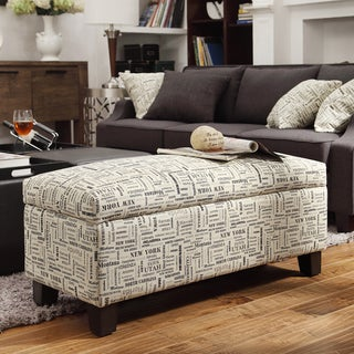 INSPIRE Q Sauganash US Geographic Lift Top Storage Bench