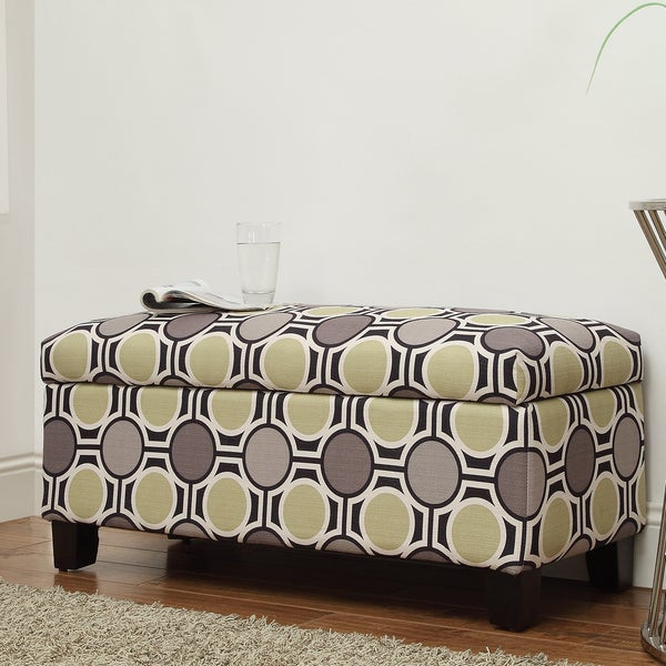 INSPIRE Q Sauganash Mod Circles Lift Top Storage Bench