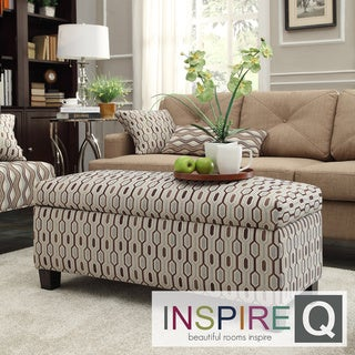 INSPIRE Q Sauganash Mocha Honeycomb Lift Top Storage Bench