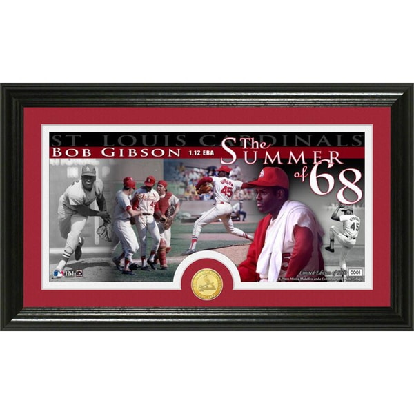 Bob Gibson Bronze Coin Panoramic Photo Mint