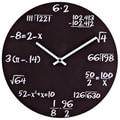 Pop Quiz Matte Black Wall Clock