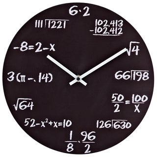Pop Quiz Matte Black Wall Clock
