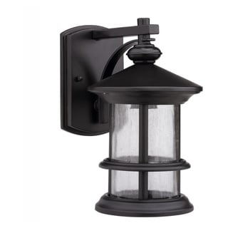 Transitional Dark Bronze 1-Light Aluminum Outdoor Wall Sconce
