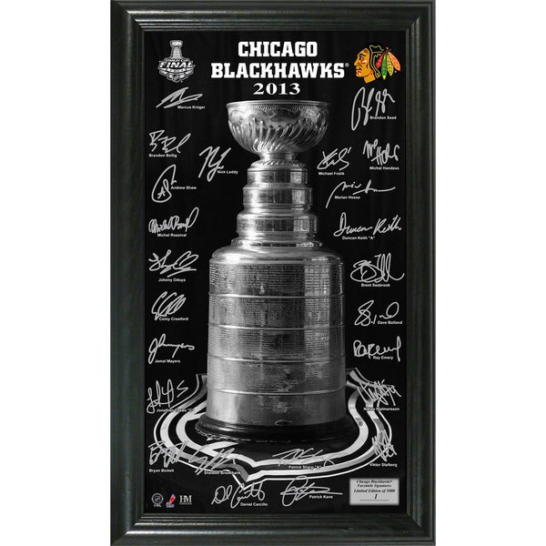 Chicago Blackhawks 2013 Stanley Cup Signature Pano 11325847