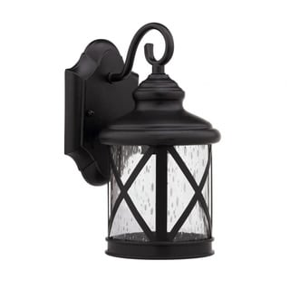 Transitional Dark Bronze 1-Light Outdoor Wall Sconce