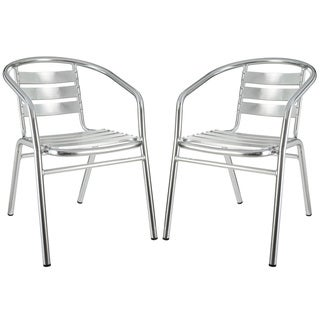Perch Modern Aluminum Outdoor Accent Chairs (Set of 2)