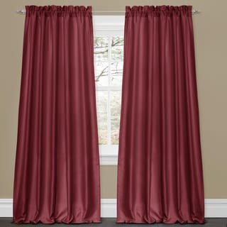 Lush Decor Lucia Red 84-inch Curtain Panel Pair