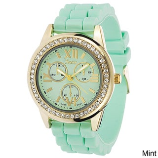 Geneva Women's Platinum Pastel Silicone Watch