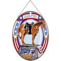 Joan Baker 'Fallen Heroes Memorial Pony' Glass Art Panel