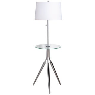 Hinsdale Chrome Floor Lamp with Tray