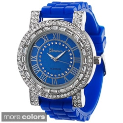 Geneva Women's Platinum Bright Silicone Watch