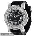 Geneva Women's Platinum Silicone Watch