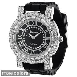Geneva Women's Platinum Silicone Watch