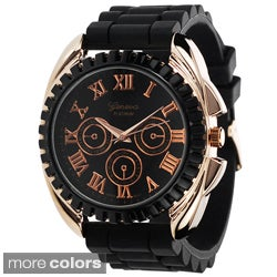 Geneva Women's Platinum Moisture-Proof Silicone Watch