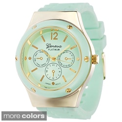 Geneva Women's Platinum Light Pastel Silicone Watch