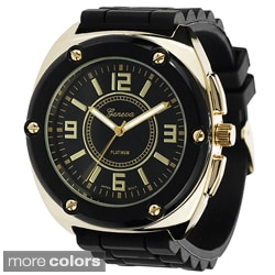 Geneva Women's Platinum Dust-Proof Silicone Watch