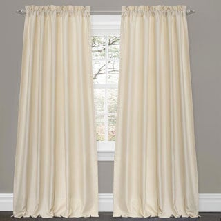Lush Decor Lucia Ivory 84-inch Curtain Panel Pair
