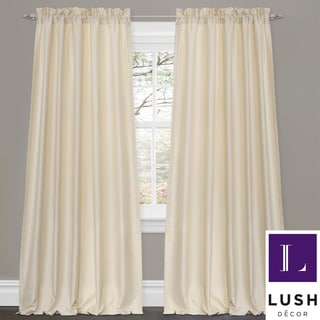 Lush Decor Lucia Ivory 84 Inch Curtain Panel Pair