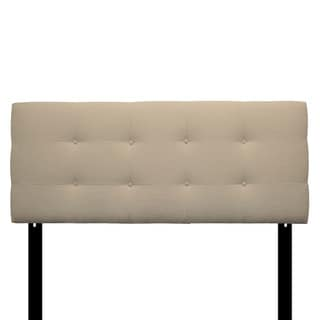 8-button Tufted Carlsbad Ivory Headboard