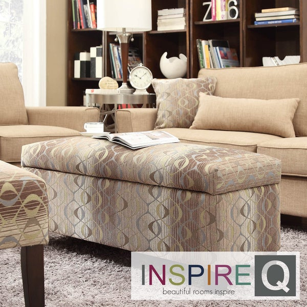 INSPIRE Q Sauganash Oval Chain Lift Top Storage Bench