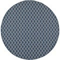 "Safavieh Indoor/Outdoor Courtyard Navy/Beige Area Rug (5'3"" Round)"