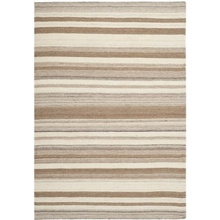 Safavieh Handwoven Moroccan Reversible Dhurrie Transitional Natural Wool Rug (8' x 10')