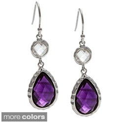 La Preciosa Sterling Silver Gemstone Drop Earrings