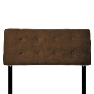 8-button Tufted Bella Chocolate Headboard