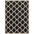 Safavieh Indoor/Outdoor Courtyard Black/Beige Rectangular Rug (5'3