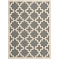 "Safavieh Courtyard Anthracite/Beige Indoor/Outdoor Polypropylene Rug (4' x 5'7"")"