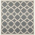 Safavieh Indoor/Outdoor Courtyard Contemporary Anthracite/Beige Rug (5'3 Square)
