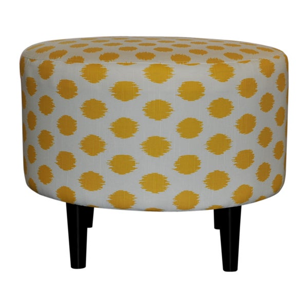 Sophia Yellow Jojo Round Ottoman