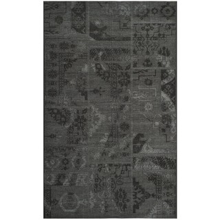 Safavieh Palazzo Black/Grey Oriental Over-Dyed Chenille Rug (4' x 6')