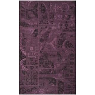 Safavieh Palazzo Black/Purple Over-Dyed Chenille Indoor Rug (4' x 6')