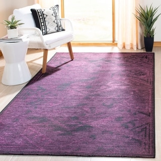 Safavieh Palazzo Black/ Purple Over-dyed Chenille Rug (5' x 8')