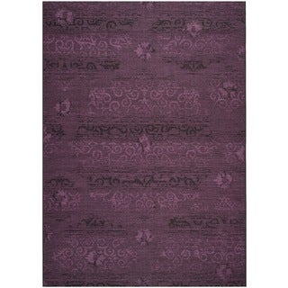 Safavieh Palazzo Black/Purple Over-Dyed Traditional Chenille Rug (8' x 11')