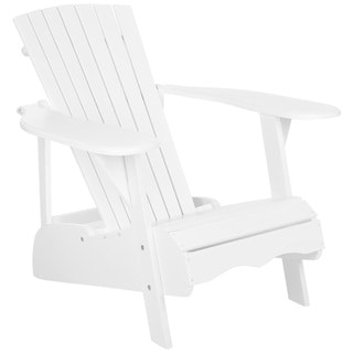 Safavieh Outdoor Living Mopani Adirondack White Acacia Wood Chair