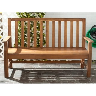 Safavieh Outdoor Living Indaka Natural Acacia Wood Bench