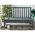 Safavieh Outdoor Living Indaka Ash Grey Acacia Wood Bench