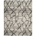 Safavieh Retro Light Grey/ Black Rug (4' x 6')